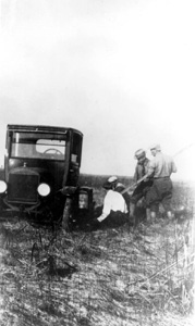 The Blazers on the unfinished portion of the Tamiami trail (1923)