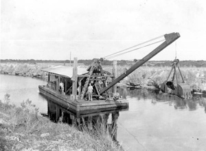 Everglades drainage and dredging (1920s)