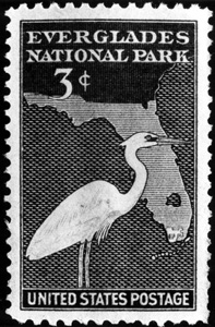 Stamp commemorating Everglades National Park (n.d.)