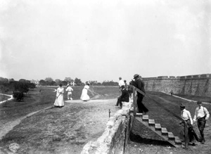 People playing golf by Fort Marion: Saint Augustine, Florida(1902)
