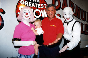 U.S. Senator Bob Graham working with the clowns at Ringling Bros. and Barnum & Bailey Circus: Sarasota, Florida (2000)