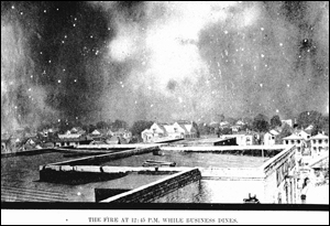 The Fire of 1901, around 12:45 p.m.: Jacksonville, Florida