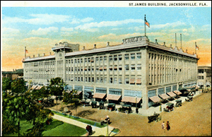 The rebuilt St. James Hotel (Cohen Brothers) Building (c. 1920s)