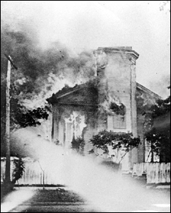 Burning building: Jacksonville, Florida