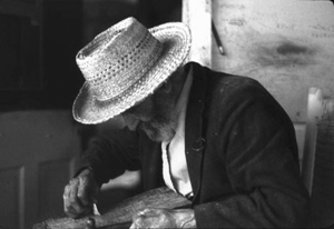 Sculptor Jesse J. Aaron at work: Gainesville, Florida (1979)