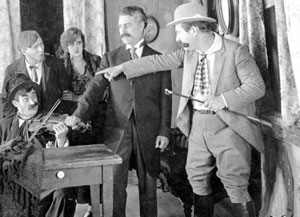 Motion picture scene from Strangled Harmony (c. 1916)