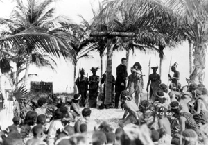 Theda Bara during shooting of film: Miami Beach, Florida (1921)