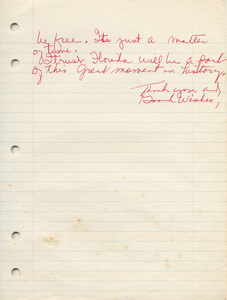 Roxcy Bolton's original handwritten draft of her testimony in support of the Equal Rights Amendment - page 5