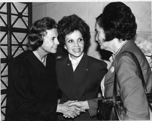Justice Sandra Day O'Connor, Paula Hawkins, and Roxcy Bolton (1980's)