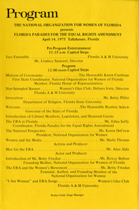 ERA March program, April 14, 1975
