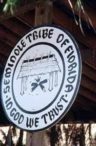 Seal of the Seminole Tribe of Florida: Hollywood Seminole Indian Reservation, Florida (1988)