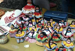 Seminole dolls on display at the 1981 Florida Folk Festival: White Springs, Florida (1981)