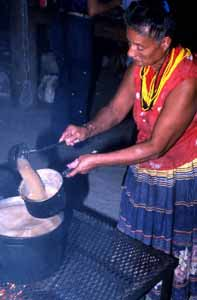 Rosie Billie cooking frybread: Big Cypress Seminole Indian Reservation (1984)