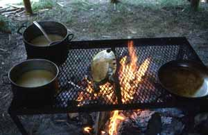 Demonstration of traditional Seminole food preparation: White Springs, Florida (1987)
