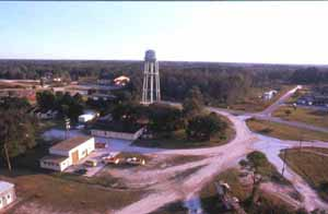 Aerial view of Big Cypress Seminole Indian Reservation (1989)
