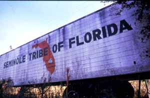 Seminole Tribe of Florida semi-truck: Big Cypress Reservation, Florida (1989)