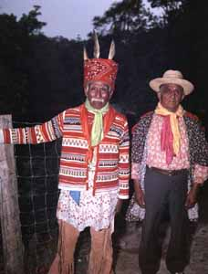 Brighton Seminole Indian Reservation elders Billy Bowlegs III (Left) and Naw Haw Tiger (right) (c.1960s)