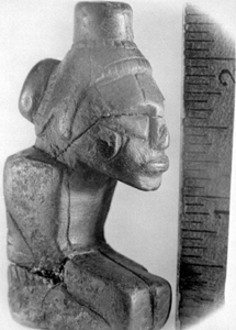 Pre-Columbian figurine found in the Wacissa River (1936)