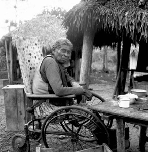 Black Seminole at Charlie Dixie Camp (1950s)