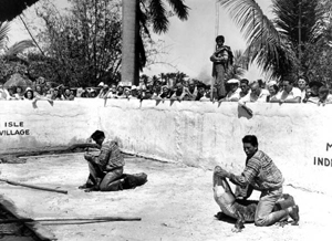 Demonstration of Seminole alligator wrestling (1940s)