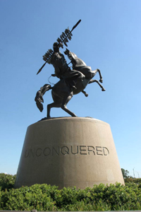 The &quot;Unconquered&quot; bronze statue at Florida State University: Tallahassee, Florida (2006)