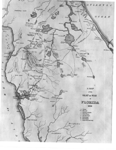 Map of the Second Seminole War (1836)