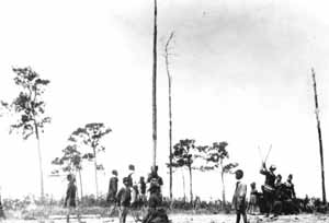 Traditional Seminole ball game in South Florida: Pine Island, Florida (1900s)
