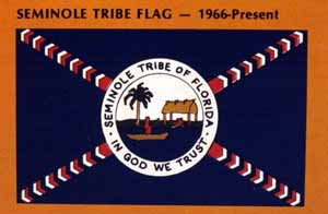 Seminole Indian Tribe of Florida flag (c. 1966)