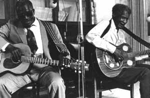 Blues musicians Reverend N.L. Williams and Johnny Brown (1978)