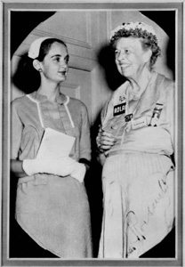 Roxcy Bolton (with Eleanor Roosevelt) (ca. 1953)