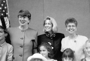 Attorney General Janet Reno, Patricia A. Seitz and Chief Justice Rosemary Barkett (1993)