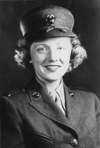 "Portrait of USMC-WR 1st Lieutenant Alice ""Martha"" Dorn (194-)"