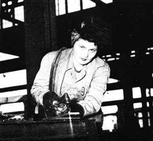 Female welder at St. Johns River Shipbuilding Company during World War II: Jacksonville, Florida (ca. 1943)