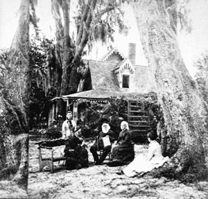 Harriet Beecher Stowe (with family) (1870s)