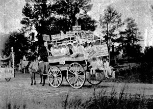 Women's Christian Temperance Union in parade in Eustis (1910s)