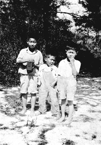 Three boys from Yamato, Florida (ca. 1920)