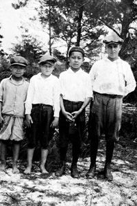 Four boys from Yamato, Florida (ca. 1920)