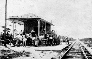 Railway depot of the Florida East Coast Railway: Yamato, Florida (ca. 1909)