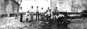 George Morikami with friends: Yamato, Florida (1906)