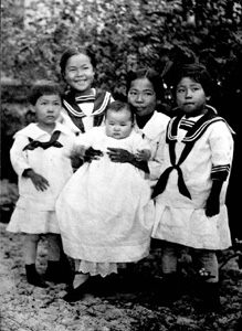 Sakai children from Yamato, Florida (ca. 1918)
