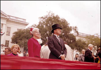 Governor Claude Kirk standing with his mother on inauguration day: Tallahassee, Florida (January 3, 1967)