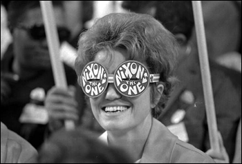 Supporter of Richard Nixon at the Republican National Convention: Miami Beach, Florida (1968)