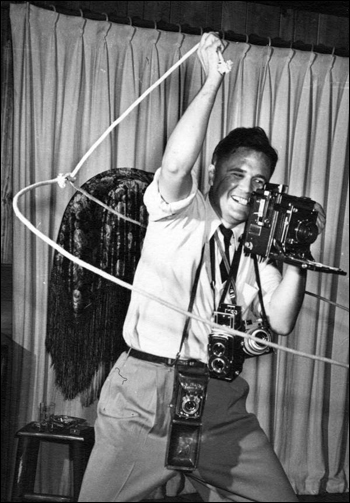 "Strobe shot of Joseph Janney Steinmetz ""taking a photo the hard way"": Sarasota, Florida (1947)"