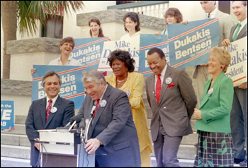 Supporters of Michael Dukakis on the steps of Florida's Historic Capitol: Tallahassee, Florida (1988)