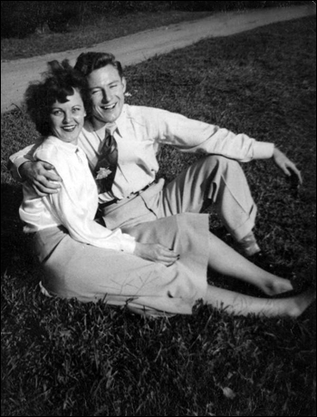 Olive Hines (late Norman) with a friend: Tallahassee, Florida (1940s)