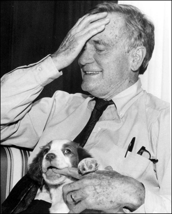 Governor Lawton Chiles and his dog: Tallahassee, Florida (1998)