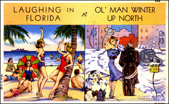Laughing in Florida at ol' man winter up North (1938)