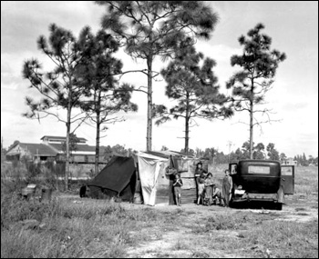 Migrant family from Tennessee: Winter Haven, Florida (1937)