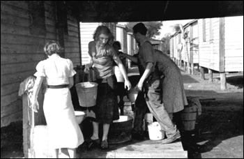 Migrant camp water supply: Belle Glade, Florida (1937)