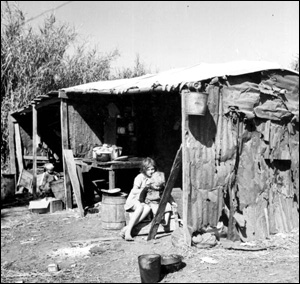Shelter for migrant workers: Belle Glade, Florida (1939)
